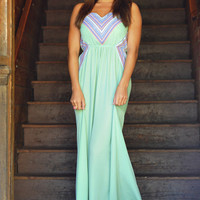 Give Your Heart A Break Maxi Dress: Mint/Multi | Hope&#x27;s