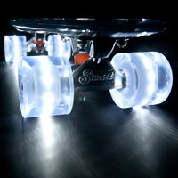 The Sunset Ghost (Clear Deck with White Flare LED Wheels)
