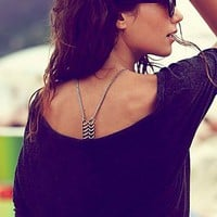 Free People Spine Body Chain