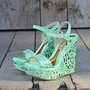Dream Catcher Wedges in Mint, Sweet Rugged Boots