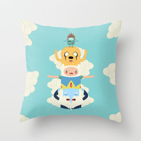Adventure Totem | Adventure Time Throw Pillow by Daniel Mackey