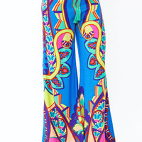 printed-wide-leg-pants BLUELIME - GoJane.com