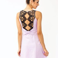 crochet-back-dress LAVENDER PEACH - GoJane.com