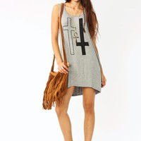 double-cross-open-back-dress IVORY LTGREY - GoJane.com