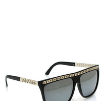 chain-link-arm-sunglasses BLACK BLUE EGGPLANT GREEN PINK - GoJane.com