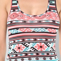 Pink Tribal Pattern Tank