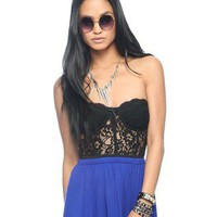 Semi-Sheer Lace Bustier | FOREVER 21 - 2000040944