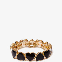 Lacquered Hearts Stretch Bracelet | FOREVER 21 - 1037769148