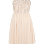 Shell Pink Embroidered Strapless Prom Dress