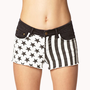 Stars &amp; Stripes Denim Cut Offs | FOREVER 21 - 2026275674