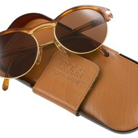 Retro Spectacular - brown acetate and metal frame sunglasses