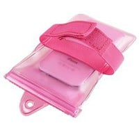 eForCity - Waterproof Bag Case W/ Armband Lanyard Compatible With Apple iPhone 5 - Hot Pink