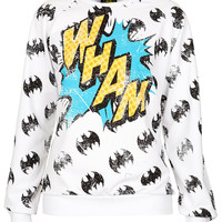 Batman &#x27;Wham&#x27; Sweat - Urban Education - Clothing - Topshop USA