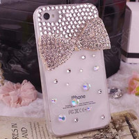 iPhone 5 Case Bling iPhone 5 Case Crystal iPhone 5 bling Case  iphone 4s case cover iphone5 case bow iPhone 5 Case iPhone4 iPhone5