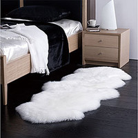 Alexa Double Natural Soft Sheepskin / Wool Shag Runner | Overstock.com