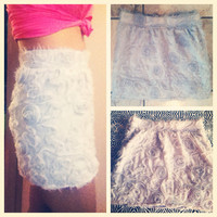 Chiffon Rose Mini Skirt  by AngeliqueMerici on Etsy