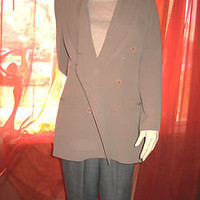 ANN TAYLOR Jacket BOYFRIENDS BROWN SILK W BUTTONS Lined SIZE12 !
