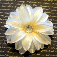 Beautiful Cream Colored Lily Flower Hair Clip Accessory