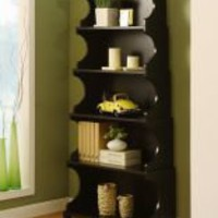 Five-tier Antique Black Bookshelf/ Display Cabinet | Overstock.com