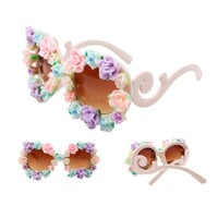 Handmade Polymer Clay Rose Flower Frame Sunglasses