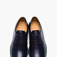 Jil Sander Navy Green-soled Leather Classic Derbys for men | SSENSE