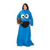 COOKIE MONSTER THROW WITH SLEEVES