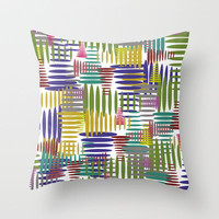 Boing Throw Pillow by Glanoramay