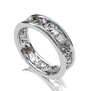 lavender sapphire ring filigree ring from