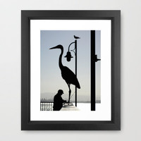 Pier Silhouettes Framed Art Print by RichCaspian