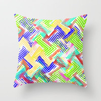 Nu Wave Throw Pillow by Glanoramay