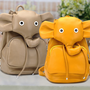 Cute Leather Elephant Backpack