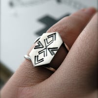 Ikat sterling silver ikat chevron ring by melaniefavreau on Etsy
