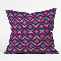 DENY Designs Home Accessories | Bianca Green Aztec Diamonds Fiesta Throw Pillow
