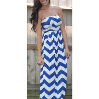 ZigZag Print Jersey Dress