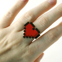 Handmade Gifts | Independent Design | Vintage Goods 8-bit Heart Ring - Jewelry - Girls