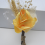 wedding boutonniere rustic elegant beautiful satin yellow rose wedding prom dance