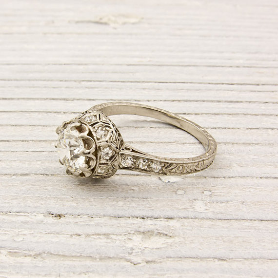 Antique 94 Carat Old European Cut Diamond by ErstwhileJewelry