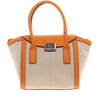 Fiorelli Belinda Canvas Winged Tote Bag