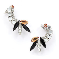 Noir - Multi-Colored Cluster Ear Cuff
