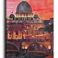 Amazon.com: Dianoche Designs Canvas Art FREE SHIPPING - Rome Italy I: Arts, Crafts & Sewing