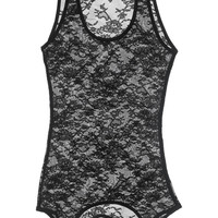 Kiki de Montparnasse Lace garter tank – 65% at THE OUTNET.COM