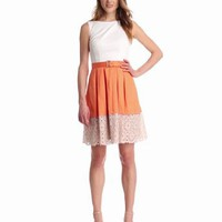 Amazon.com: Maggy London Women&#x27;s Belted Skirt Detailed Dress: Clothing
