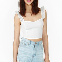 Dream Lover Crop Tank - Ivory