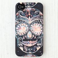 Skull Printed With Floral Case for iPhone 4