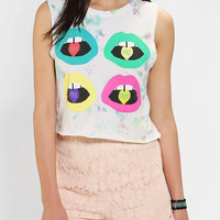 LIFE Candy Lips Cropped Muscle Tee