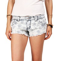 Palm Trees Denim Shorts