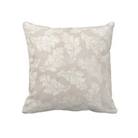 Soft Floral Throw Pillow With Chevron Back from Zazzle.com