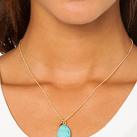 Accessories Boutique Necklace Pebble Turquoise
