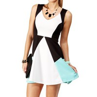 Mint Colorblock Dress