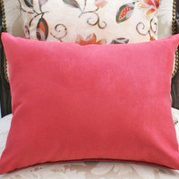 Watermelon Pink Decorative Pillows for BOHO by PillowThrowDecor